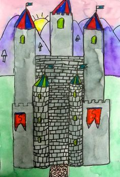Creative Art Projects for Busy Teachers Castles Topic, Castle Project, Kids Castle, Deep Space Sparkle, Jr Art, Queen Art, Art Club, Summer Art, Art Plastique