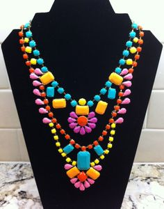 Loving Handpainted Neon Rhinestone Necklaces