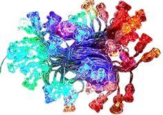 Color Solar Light String Bear Solar Fairy String Lights For Outdoor