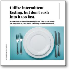"""""""Intermittent fasting is an effective way to get your weight loss success back on track. So, you do want to fast, but you don't want to rush into the practice too fast. This is especially true if you have been splurging on refined carbs and junk foods..."""" Weight Loss Goals, Healthy Weight Loss, Stop Eating, Intermittent Fasting, Junk Food, Superfoods, Healthy Habits, Track, Success"""