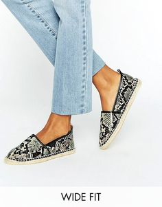 ASOS JOSIE Wide Fit Snake Espadrilles Espadrille Sandals, Espadrilles, Shoes Sandals, Asos Shoes, Shoe Game, Womens Flats, Slippers, Snake, Fitness