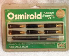 Vintage Osmiroid Master Drawing Set Pen & 6 Gold Plated Nibs New Old Stock  #Osmiroid
