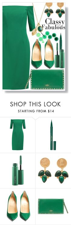 """""""Classy and Fabulous"""" by aleks-g ❤ liked on Polyvore featuring Milly, Stila, MAC Cosmetics, Carousel Jewels, Christian Louboutin, Valentino, classy, fabulous, contestentry and lushgreen"""