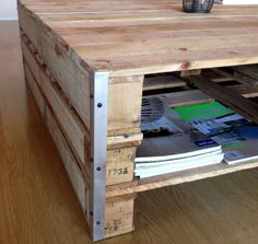 Coffee table with Aluminium Edging