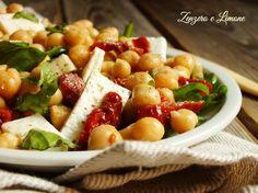 insalata di ceci (usa formaggio messicano)