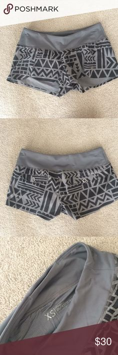 Brooks running shorts Lined Brooks running shorts with rare tribal print. Multiple pockets for keys/cards. Waistband super comfortable and flattering. Great condition Brooks Shorts