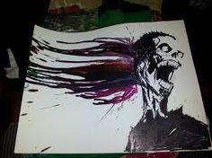 Resultado de imagen de cuadros con crayones derretidos