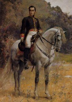 Retrato ecuestre de Bolivar, by Arturo Michelena 1888