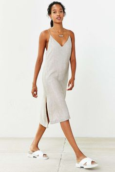Martel Metallic Strappy Slip Dress - Urban Outfitters