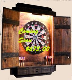 Dartboard Cabinet Light LED - Dart board Throw Line Laser - Electronic Dartboard Wi-Fi Voice App Dart Board Backboard, Dart Board Cabinet, Electronic Dart Board, Stud Finder, Rough Wood, Cabinet Lighting, Light Project, Trim Color, Stain Colors
