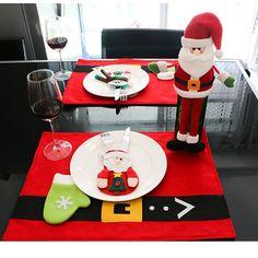 Xmas Decor Snowman Tableware Holder Pocket Dinner Cutlery Bag Party Christmas 1x
