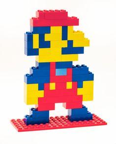 """picapixels: """"Lego Mario (via willbenton) """""""