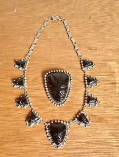 2 pc Vintage Taxco Sterling & Obsidian Mask Necklace Brooch Set- Iconic Retro Mexican Silver Jewelry Set by delilahsdeluxe on Etsy Earrings Photo, Drop Earrings, Sterling Silver Necklaces, Silver Jewelry, Vintage Western Wear, Tooled Leather Purse, Jewelry Sets, Unique Jewelry, Brooch