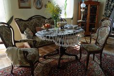 05.Wnętrza dworskie Mansions Homes, French Country, Poland, Dining Table, Manor Houses, Living Room, Furniture, Witch, Interiors
