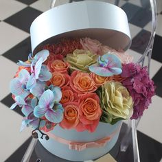 Flower Box Gift, Flower Boxes, Amazing Flowers, Beautiful Flowers, Luxury Flowers, Arte Floral, How To Preserve Flowers, Flower Images, Floral Bouquets
