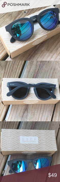 128fa1c412 DIFF Eyewear Blue Polarized Sunglasses Diff eyewear sunglasses. Frame   matte black. Lenses