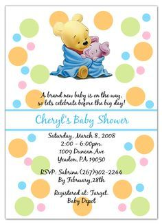 When Pooh Bear Baby Shower Invitations Time Come You Ll Need Idea To Attract People With Awesome Invitation This Por