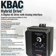 KBAC Digital AC Drive with Analog Interface