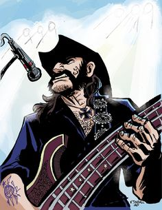 Lemmy from Motorhead by archiesnow