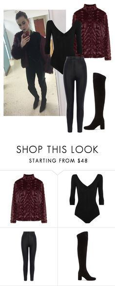 """""""My OOTD"""" by mack-et-la-mode ❤ liked on Polyvore featuring JunaRose, Ballet Beautiful, Karen Millen and Yves Saint Laurent"""