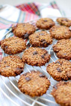 bolachas de aveia e chocolate | oats chocolate chip cookies