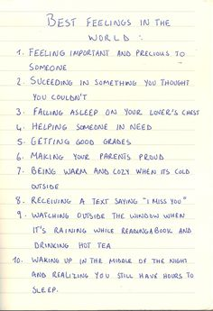 I completely adore this list.
