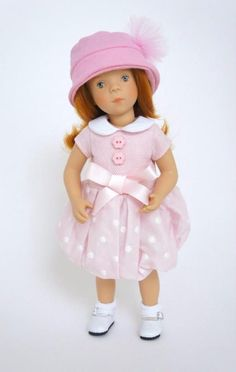 """One of the sweetest and pretties dolls we've seen in a long time! Sylvia Natterer artist designed for Petitcollin NIB 2015 Minouche Natalie Doll. She's 13"""", gorgeous Redhead with Green Eyes"""