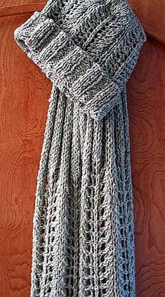 Free Pattern: Moss Rock Lace Scarf and Hat by Kathy North