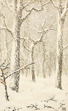 "Untitled (""Trees in Snow"") Author: George Elbert Burr (American, ., Untitled (""Trees in Snow"") Author: George Elbert Burr (American, . Snow Scenes, Winter Scenes, Inspiration Art, Winter's Tale, Winter Wonder, Winter Art, Art Graphique, Tree Art, American Art"