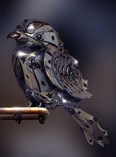 steampunk,bird,clockwork