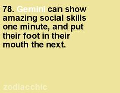 Gemini fact from ZodiacChic.
