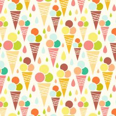 Ice Cream Cones fabric by oksancia on Spoonflower - custom fabric
