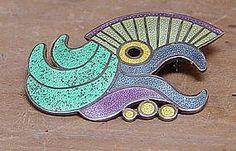 Fabulous RARE Margot de Taxco Parrot pin/pendant (item #625899)