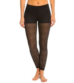 Blue Life Fit Sheery Lacey Yoga Leggings