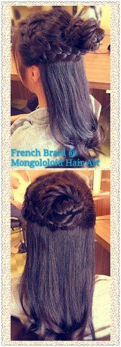 #french #braids #mongoloidhairart #hair #upstyles #oug #malaysia