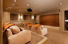 Theater Room love this color scheme ❤