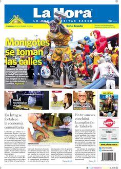 (28 diciembre) Monigotes se toman las calles, En Intag se fortalece la agricultura comunitaria y en tres meses concluirá la remodelación de Tababela.