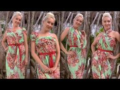 8 different ways to tie a scarf into a summer dress - YouTube