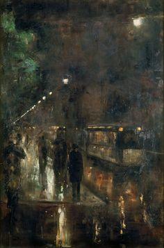 """Nächtliches Berlin"""", 1919 by Lesser Ury"""