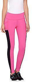 cee bee CHERYL BURKE Regular Color- Block Ankle Pants w Pockets