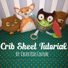 How To Tuesday: Fitted Crib Sheet- a free pdf sewing pattern from Create Kids Couture!! Whip up this crib sheet for that new baby in no time! :)