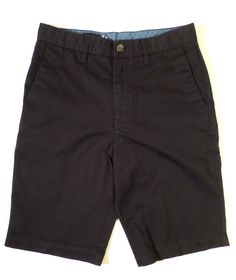 Volcom Corpo Class Frickin Too Chino Shorts in Black, Mens Size 29 or Boys 18
