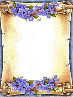 Frames – World of Flowers Page Borders Design, Border Design, Frame Background, Paper Background, Molduras Vintage, Boarders And Frames, Birthday Frames, Borders For Paper, Paper Frames