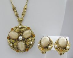Vintage West German Necklace and Earring Set by ToadSuckTreasures, $55.00