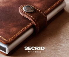 SECRID Miniwallet in vintage brown #secrid #vintage brown #kartenetui
