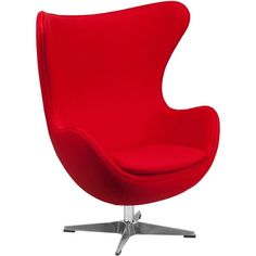Flash Furniture Egg Chair with Tilt-Lock Mechanism ($370) ❤ liked on Polyvore featuring home, furniture, chairs, office chairs, red, chrome desk chair, swivel desk chair, red rocking chair, swivel chairs and spinning chair