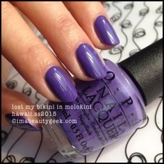 OPI Hawaii collection [release Feb 2015]: lost my bikini in molokini. It's purple. And it's a good purple