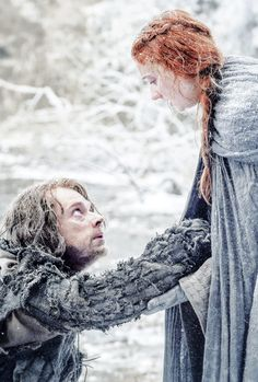 Theon and Sansa in Game of Thrones Season 6