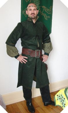 What Jorrell wears for Dorian's Name Day Feast Renaissance, Patron Simplicity, Medieval Costume, Medieval Clothing, Medieval Fantasy, Middle Ages, Costume Design, Military Jacket, Lol