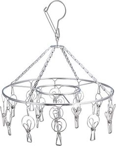 Laundry Clothesline Hanging Rack for Drying Clothing Set of 18 Stainless Steel Clothespins Round Pro Chef Kitchen Tools http://www.amazon.com/dp/B00UUSC7YY/ref=cm_sw_r_pi_dp_Kk62wb16QZBB1